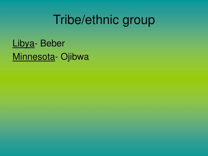Tribe/ethnic group