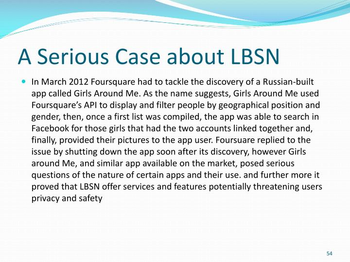 A Serious Case about LBSN