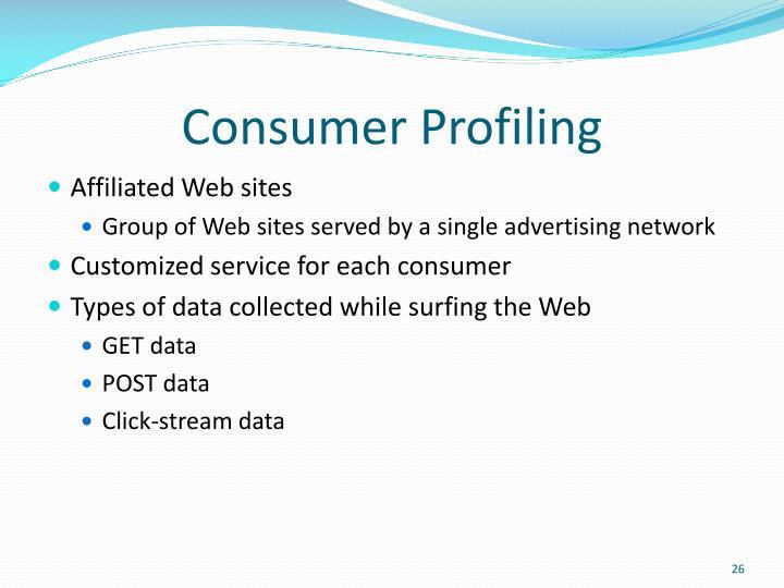 Consumer Profiling