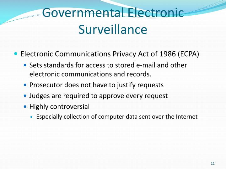 Governmental Electronic Surveillance