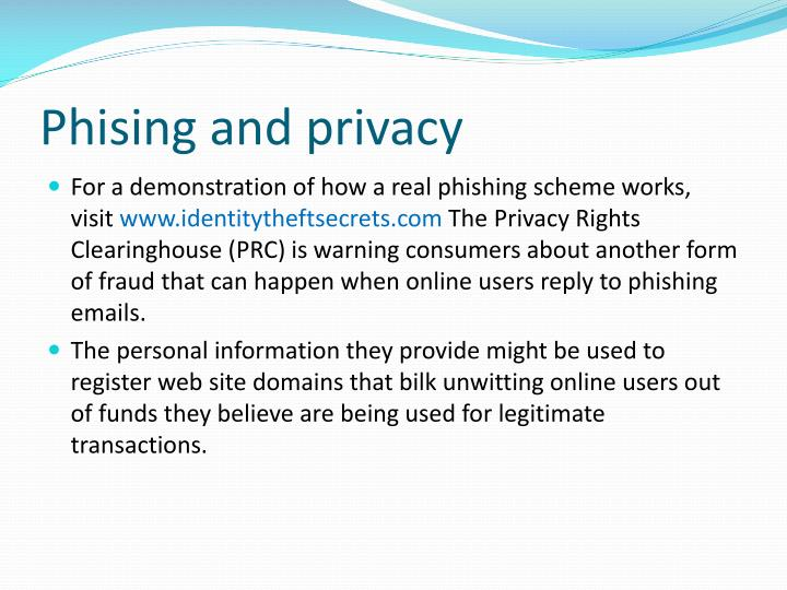 Phising and privacy