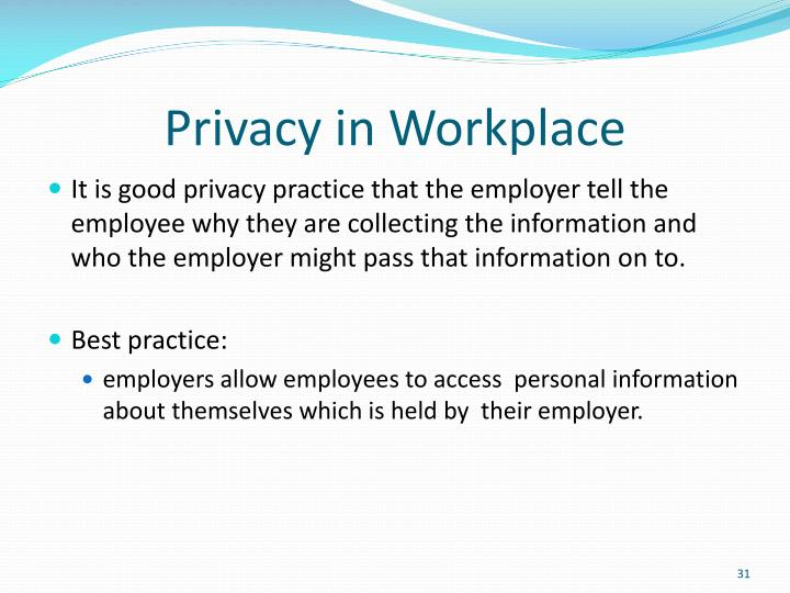 Privacy in Workplace