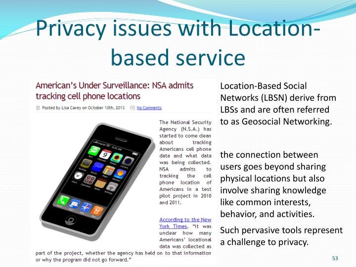 Privacy issues with Location-based service