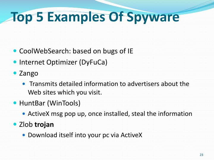 Top 5 Examples Of Spyware