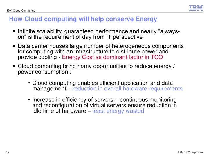 How Cloud computing will help conserve Energy