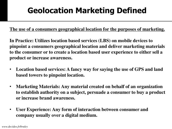 Geolocation Marketing Defined