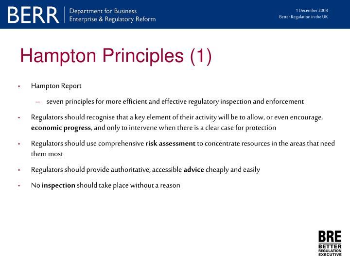 Hampton Principles (1)