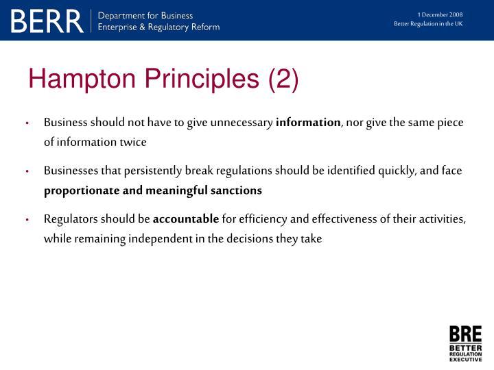 Hampton Principles (2)