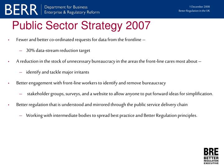 Public Sector Strategy 2007