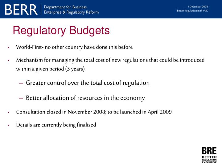Regulatory Budgets