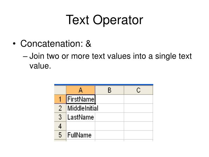 Text Operator