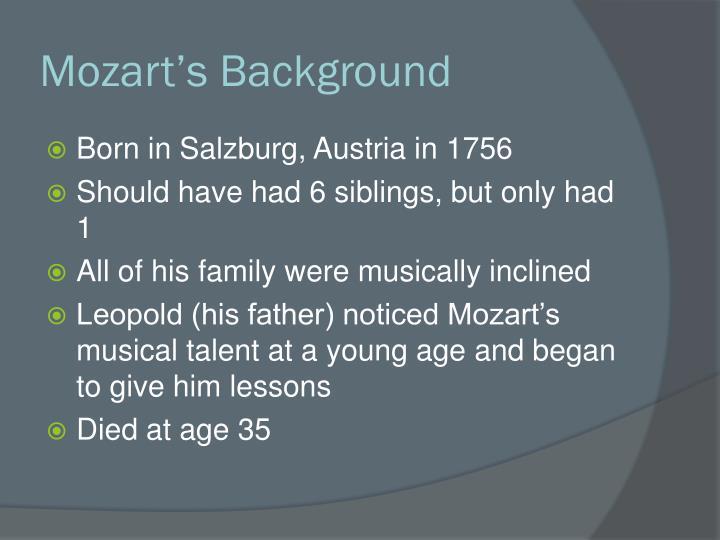 Mozart's Background