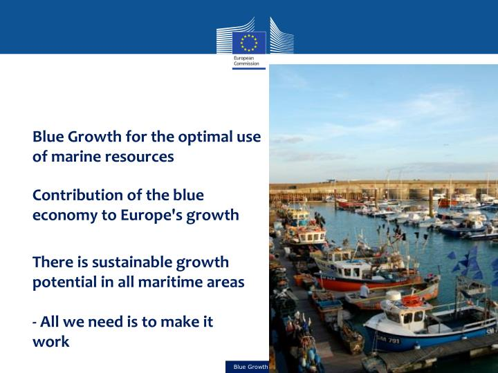 Blue Growth for the optimal use of marine resources