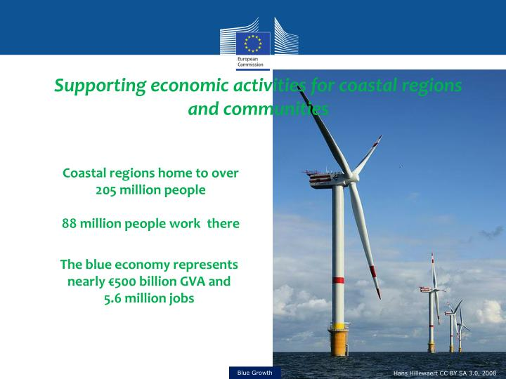 Supporting economic activities for coastal regions and communities