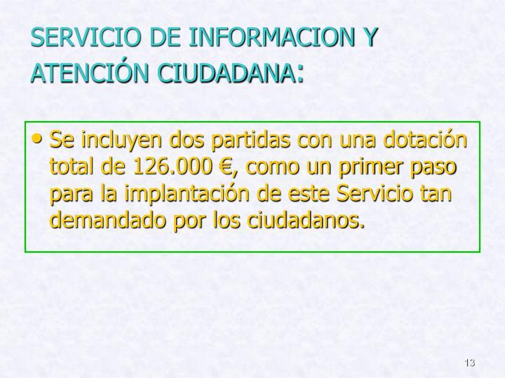 SERVICIO DE INFORMACION Y ATENCIÓN CIUDADANA