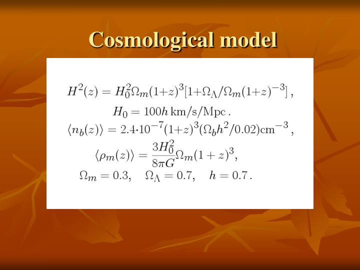 Cosmological model