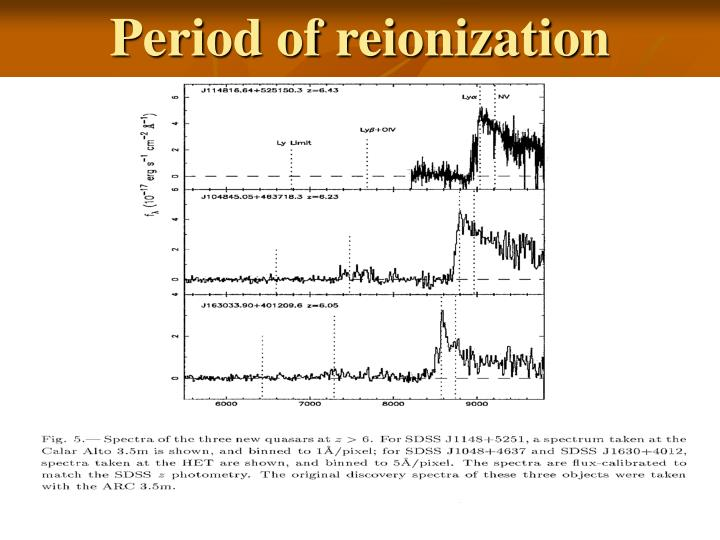 Period of reionization