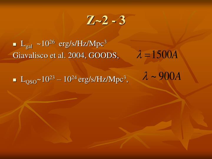 Z~2 - 3