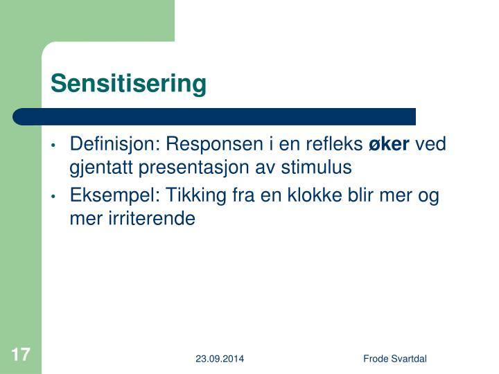Sensitisering