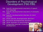 disorders of psychological development f80 f89