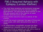 f80 3 acquired aphasia with epilepsy landau kleffner