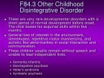 f84 3 other childhood disintegrative disorder