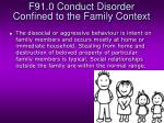 f91 0 conduct disorder confined to the family context