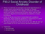 f93 2 social anxiety disorder of childhood