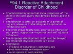 f94 1 reactive attachment disorder of childhood