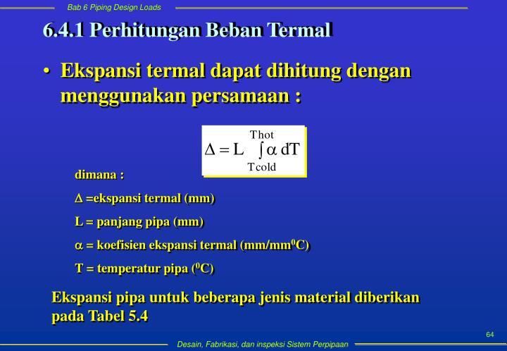 6.4.1 Perhitungan Beban Termal