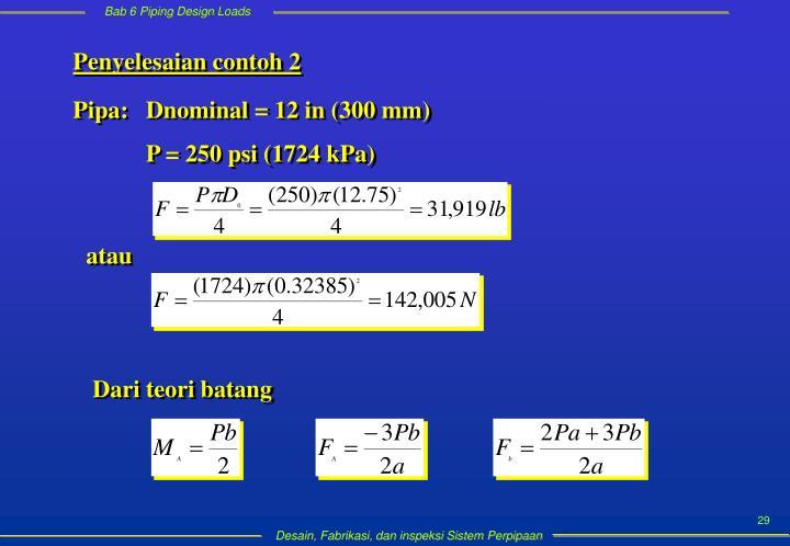 Penyelesaian contoh 2