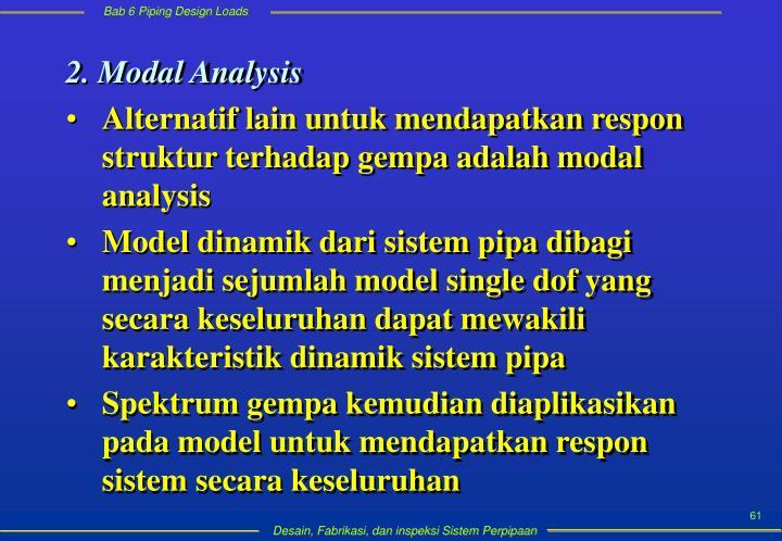 2. Modal Analysis