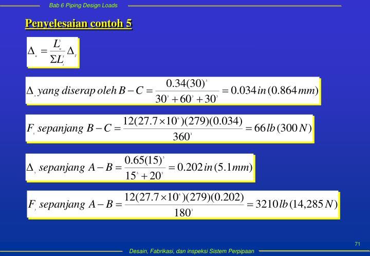 Penyelesaian contoh 5