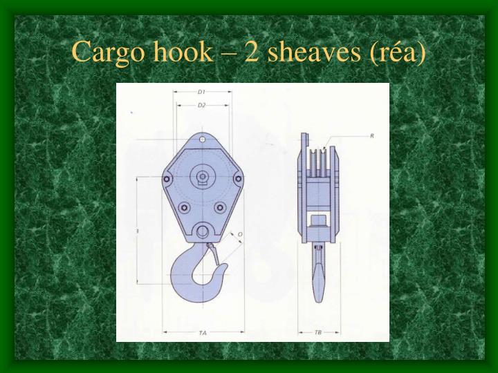 Cargo hook – 2 sheaves (réa)