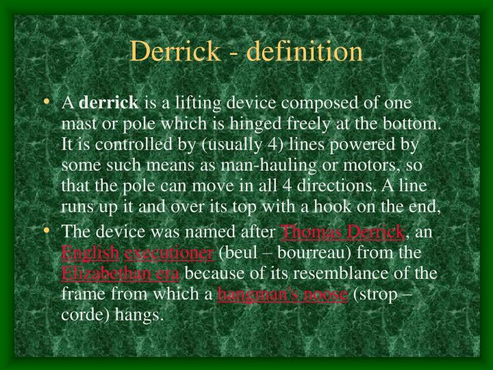 Derrick - definition