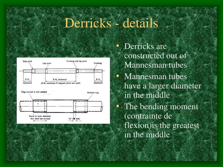 Derricks - details