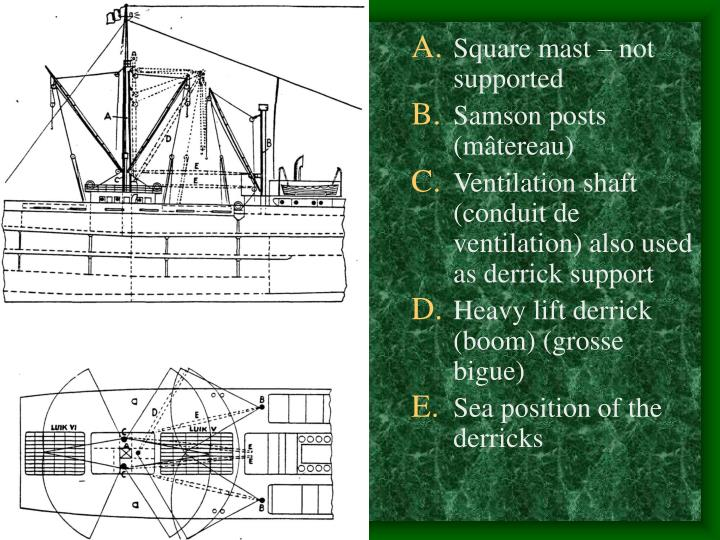 Square mast – not supported