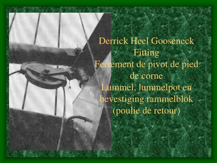 Derrick Heel Gooseneck Fitting