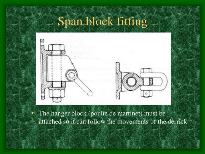 Span block fitting