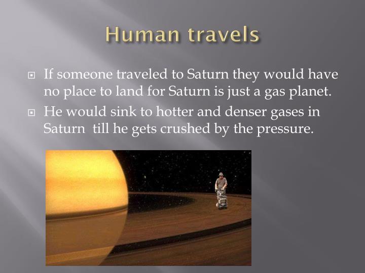 Human travels
