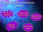 celebrate your hometown citizens
