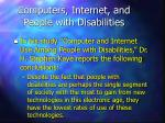 computers internet and people with disabilities