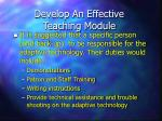 develop an effective teaching module