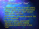 distribute the zine