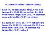 la guarda del s bado sabbath keeping1