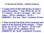 la guarda del s bado sabbath keeping28