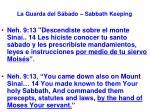 la guarda del s bado sabbath keeping30