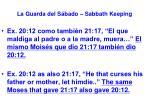 la guarda del s bado sabbath keeping33