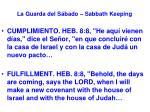 la guarda del s bado sabbath keeping42