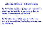 la guarda del s bado sabbath keeping48
